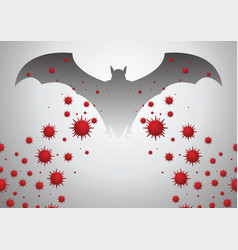 bat are thought to be cause corona virus vector image