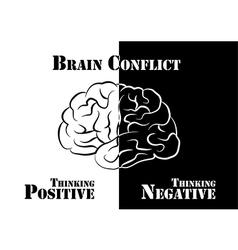Brain Conflict vector