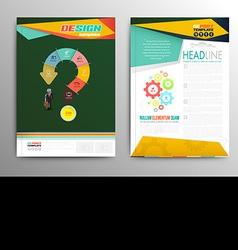 brochure template design business concept vector image