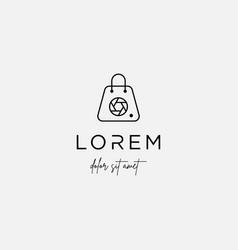 Camera shop logo template design symbol vector