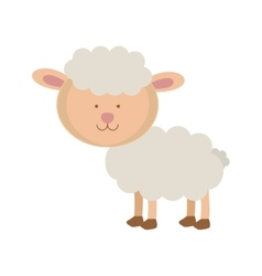 Cartoon sheep icon vector