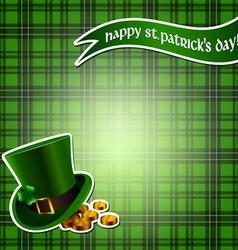 Checkered Saint Patricks background vector image