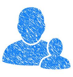 child parent grunge icon vector image