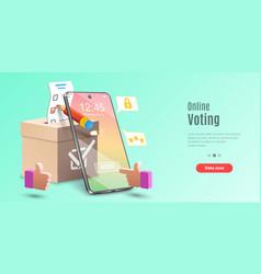 concept online voting app e-voting internet vector image