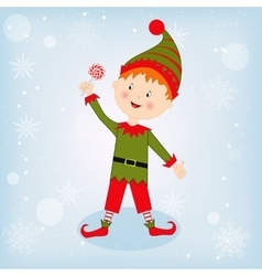 Cute Christmas elf vector image