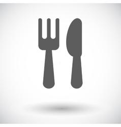 Cutlery single icon vector