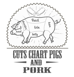 Cuts chart pigs vector image