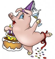 Dancing pig vector