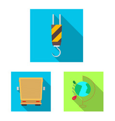 design of goods and cargo icon collection vector image