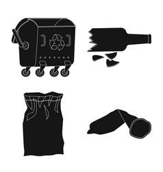 Design refuse and junk symbol vector