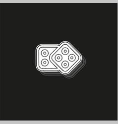 dices icon casino game icon - casino game - dices vector image