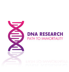 Dna chain gene research logo element icon vector