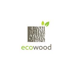 Eco wood creative oak bark texture sign vector