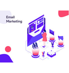 email marketing isometric modern flat design vector image