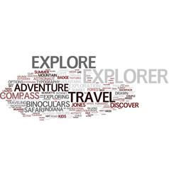 Explorer word cloud concept vector
