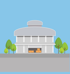 factory building warehouses in flat style vector image
