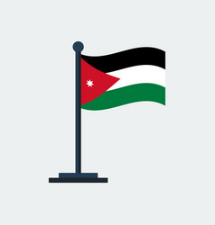 flag of jordanflag stand vector image