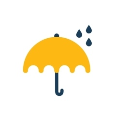 Flat icon on white background umbrella rain vector