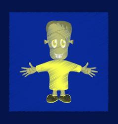 flat shading style icon zombie men vector image