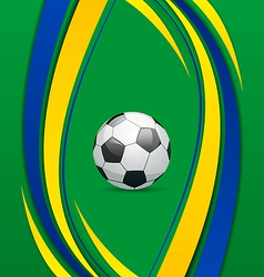 Footbal background in Brazil flag concept vector
