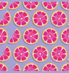 fruit seamless pattern grapefruit vector image
