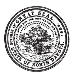 great seal state north dakota vector image