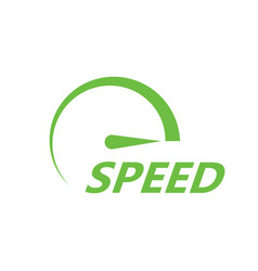 green speed icon vector image