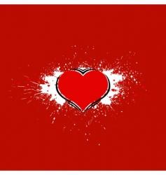Grunge love card vector
