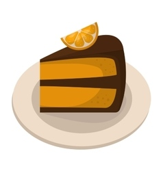 Homemade pumpkin pie vector