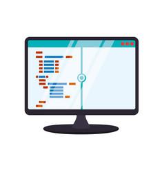 Html programming code vector