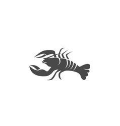 Icon crayfish lobster vector