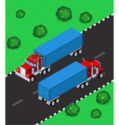 isometric truck vector image
