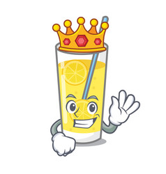 King lemonade mascot cartoon style vector