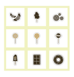 label icon on design sticker collection candy and vector image