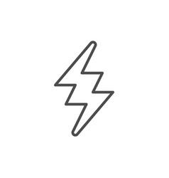 lightning line icon vector image