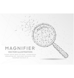 Magnifying or search sign digitally drawn low vector