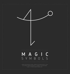 Minimalist magic symbol design vector