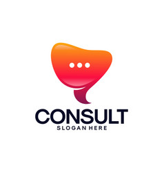 Modern gradient consulting agency logo template vector