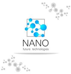 nano logo vector image