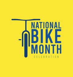 National bike month template design vector