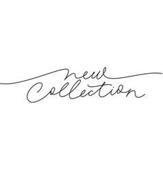new collection continuous line lettering vector image