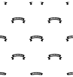 Oktoberfest banner icon in black style isolated on vector