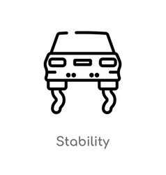 Outline stability icon isolated black simple line vector