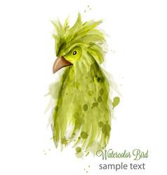 Parrot bird watercolor cartoon style vector