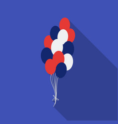 Patriotic balloons icon in flat style isolated on vector