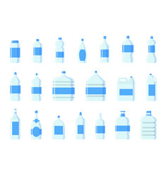 plastic water bottle blank nature blue vector image