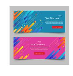 Realistic holi banner design vector