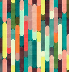 retro stripe seamless pattern with grunge effect vector image