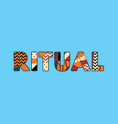 Ritual concept word art vector