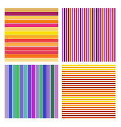 set abstract striped background colorful line vector image